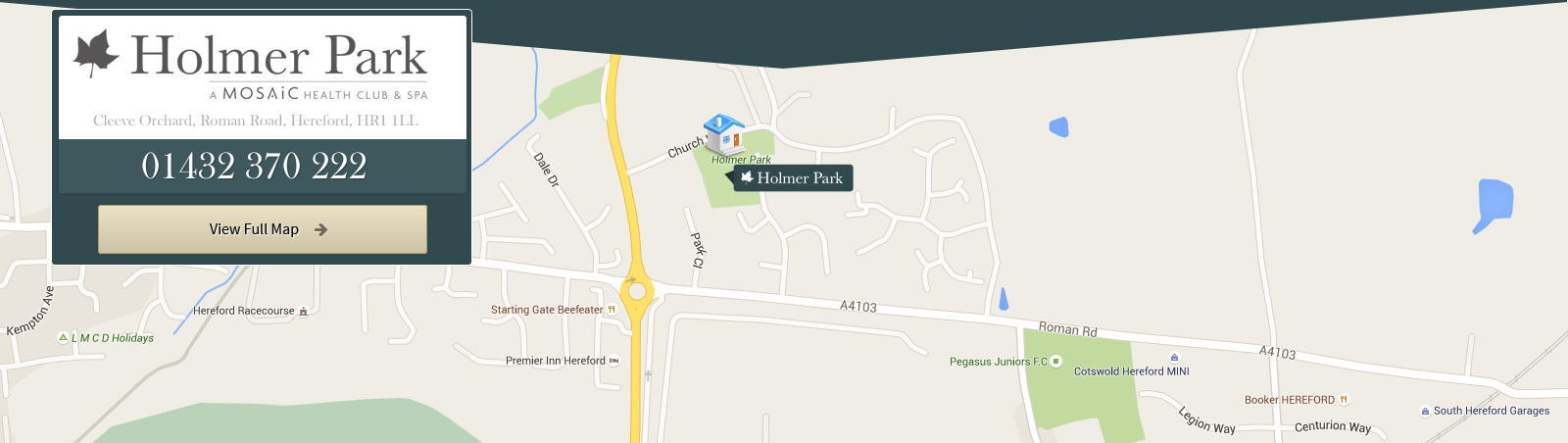 Map of Holmer Park health club